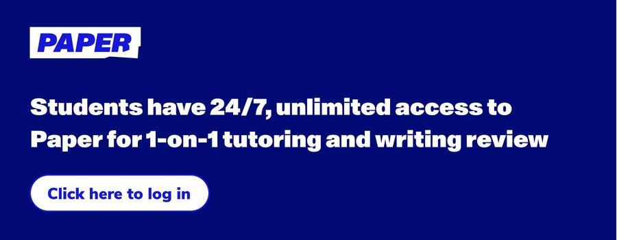 Paper | online, 1-on-1 tutoring