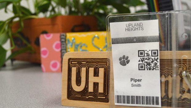 Upland Heights Scannable Badge