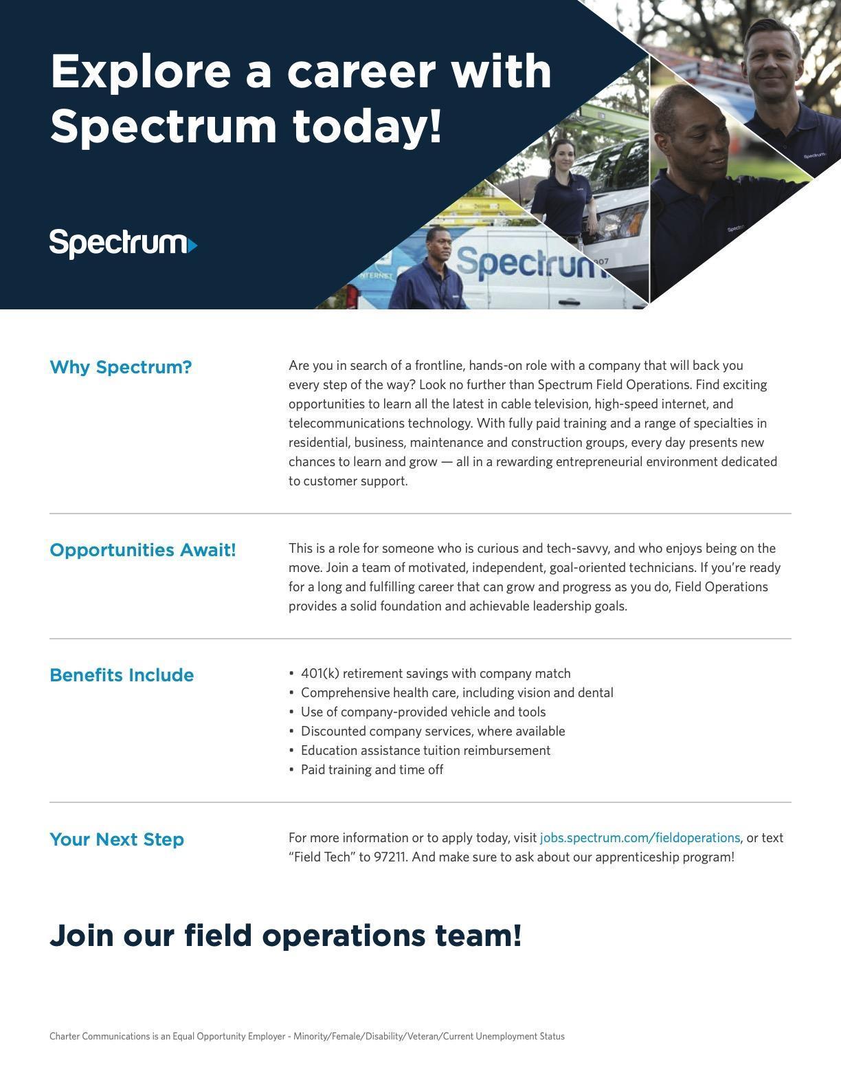 Spectrum job posting