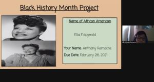 Anthony Remache's presentation on Ella Fitzgerald