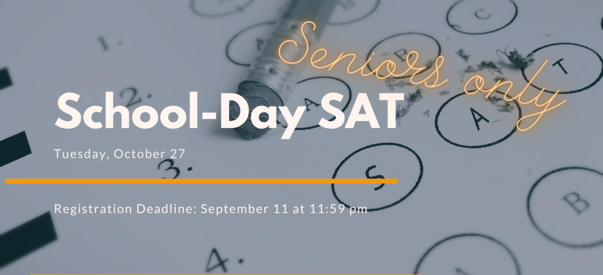 graphic describes a school-day sat on October 27