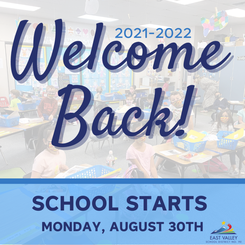 Welcome Back - School Starts Monday, August 30th