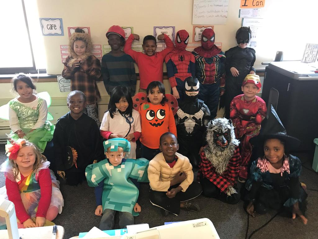 On Halloween, East students paraded through the middle school. The students loved seeing neighbors, siblings, cousins, and friends!