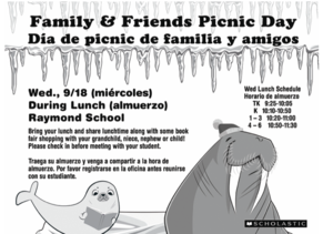 Picnic with Students on Wed. during book fair