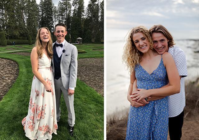 Brayden Lanphere Aeva Schrambach `17 in high school and today