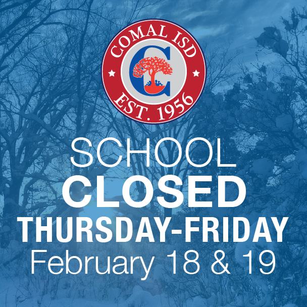 Feb. 18, 19 closure image