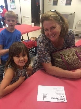 Mother and daughter at Back to School Night