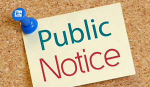 Public Meeting Notice Announcement Image