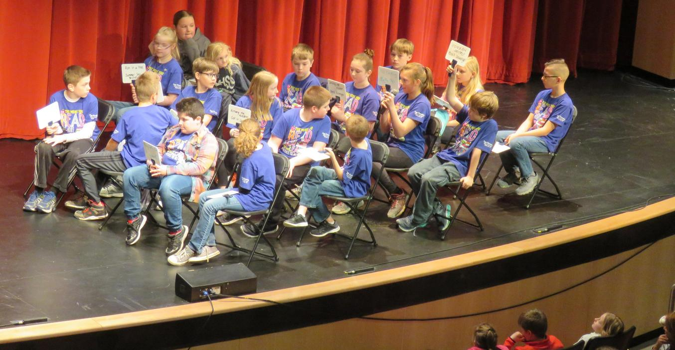 Page finalists take part in the Battle of the Books.