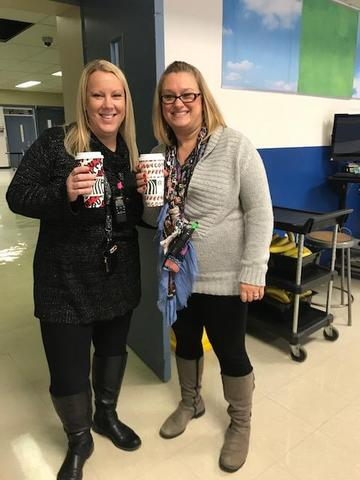 Teachers with coffee