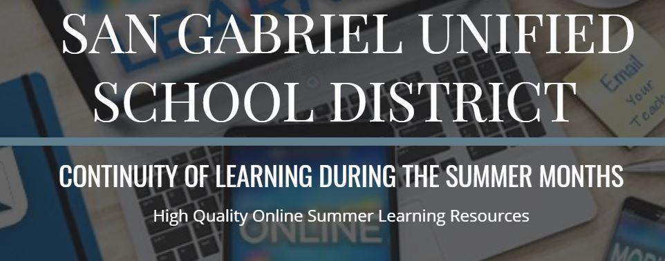 SGUSD Summer Learning Resources