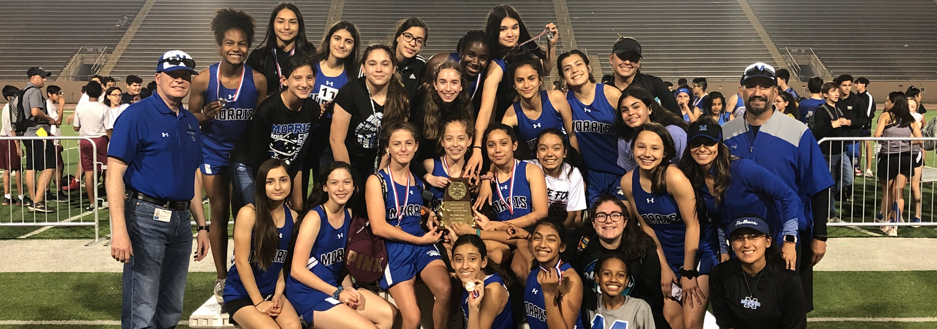 7th Girls Track - District Champions