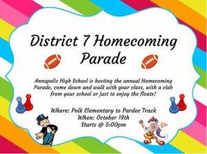 Homecoming Parade Flyer