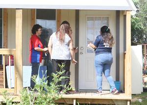 Edinburg CISD migrant recruiters go door-to-door visiting with students and their families in northern Hidalgo County.