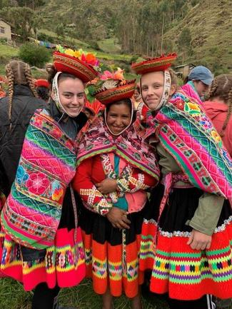 Peru group dressed in native clothing