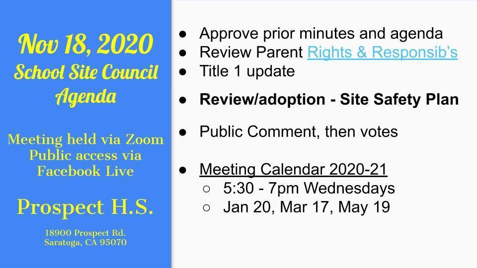 Council agenda - 18 Nov 2020