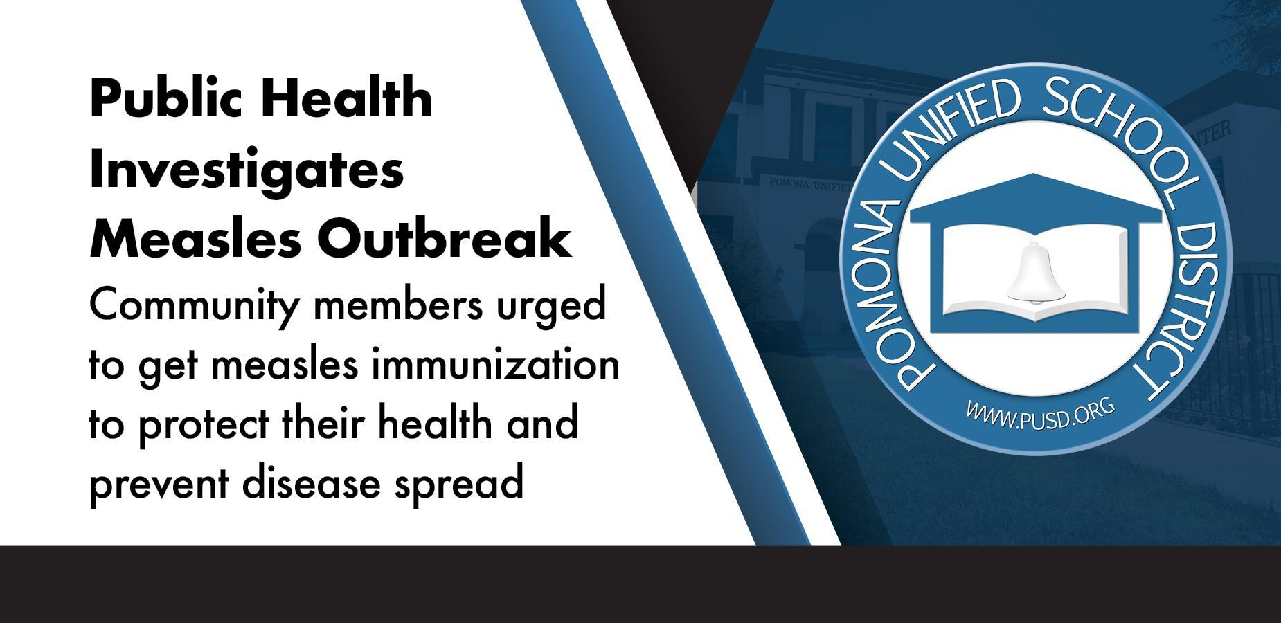 Health Services Website on Measles