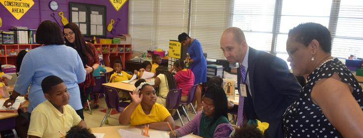 MDE Chief Academic Officer visits Summit Elementary.