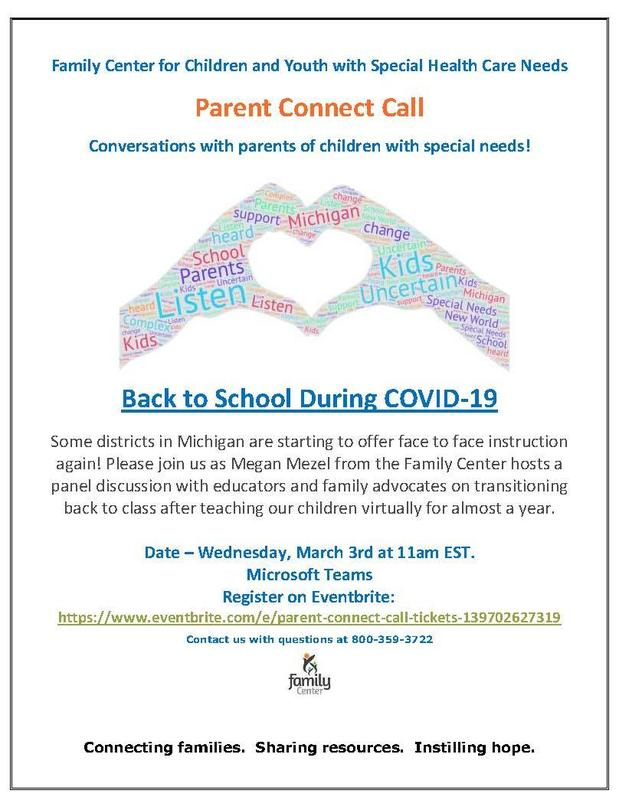 Flyer Parent Connect Calls - Back to School During COVID - 19