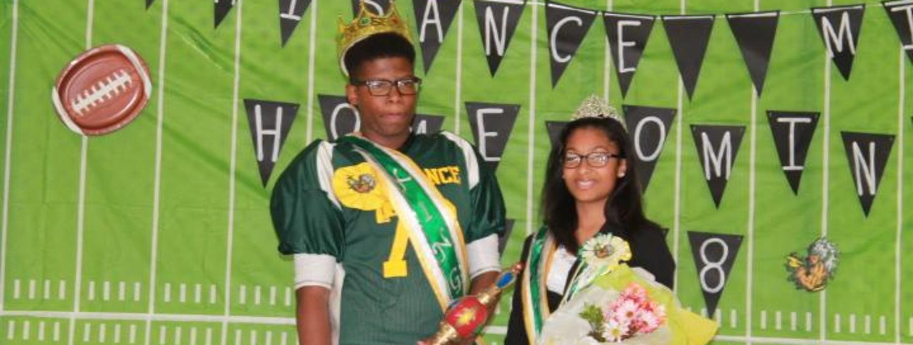 Plaisance Middle School Homecoming King & Queen Bryce May & Alalah Duckless !