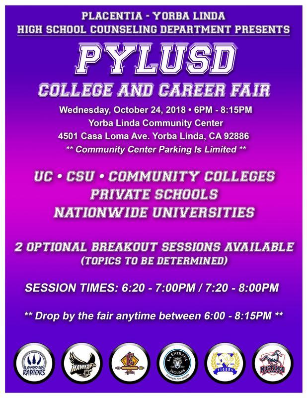 PYLUSD College and Career Fair- October 24, 2018 Thumbnail Image
