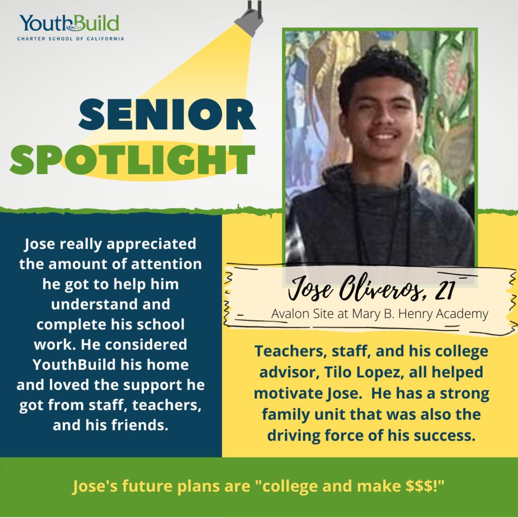 Senior Spotlight for graduate Jose Oliveros