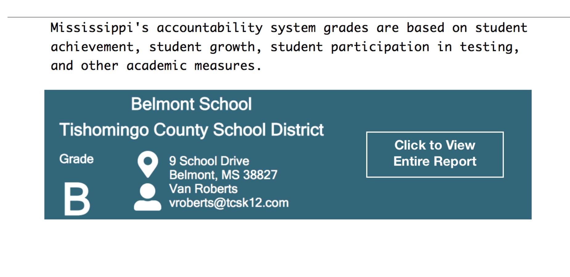 Belmont School Report Card 2017-18
