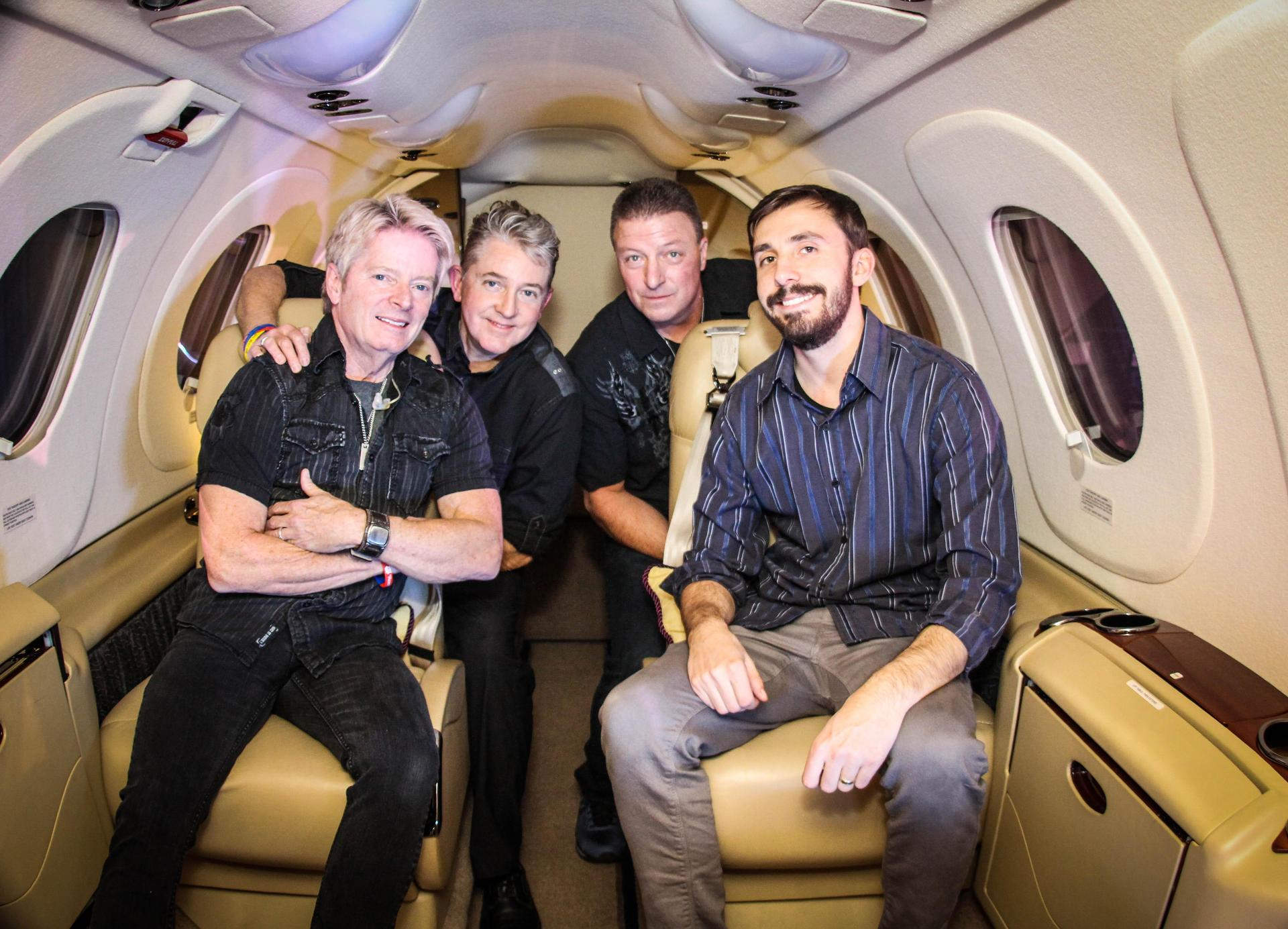 CTS Band Members inside Jet.