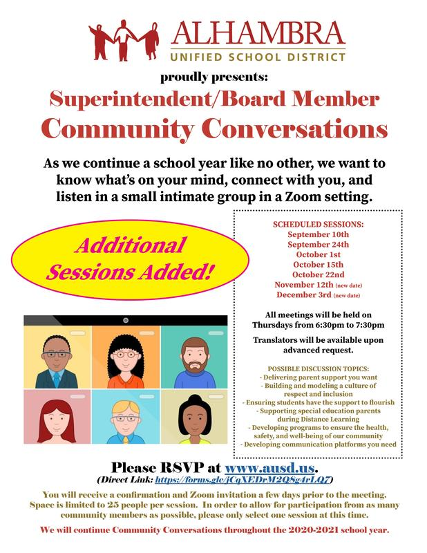 Community Conversations - ADDITIONAL SESSIONS ADDED Featured Photo