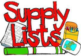 school supply list picture