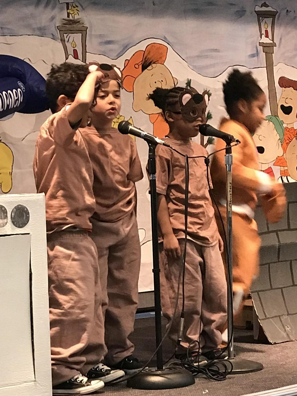 Kinder performs