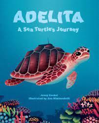A loggerhead sea turtle swimming in the ocean