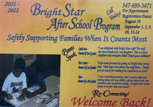 Bright Star After School Flyer Front