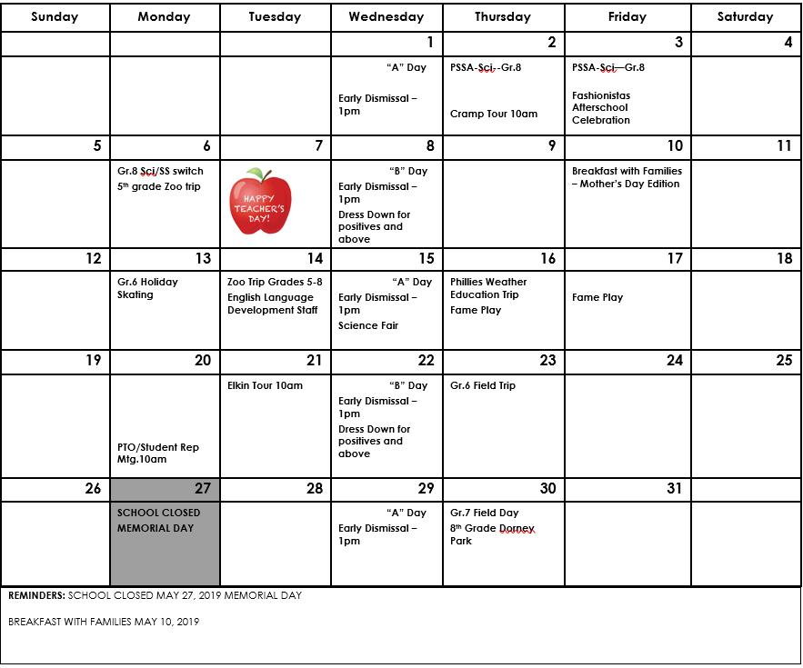 Stetson Academic Calendar 2019 Calendars – Students – John B. Stetson Charter School