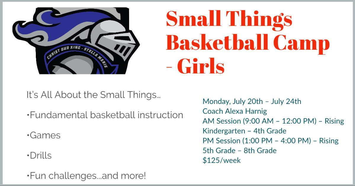 Small Things Basketball Camp - Girls