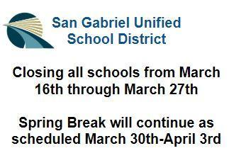 School Closure Flyer