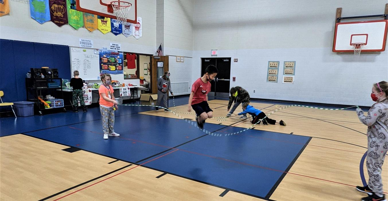 Lee students took part in the Kids Heart Challenge  raising funds for the American Heart Association.