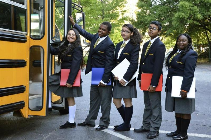 Cristo Rey Students on Bus
