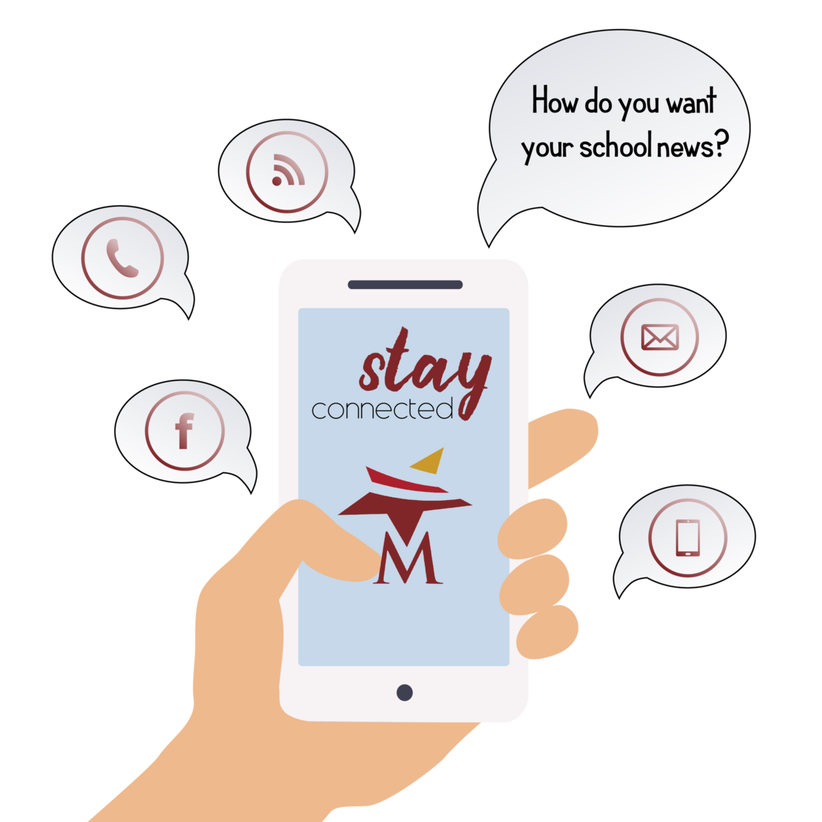 Stay Connected with Magnolia ISD through email, text services, and social media