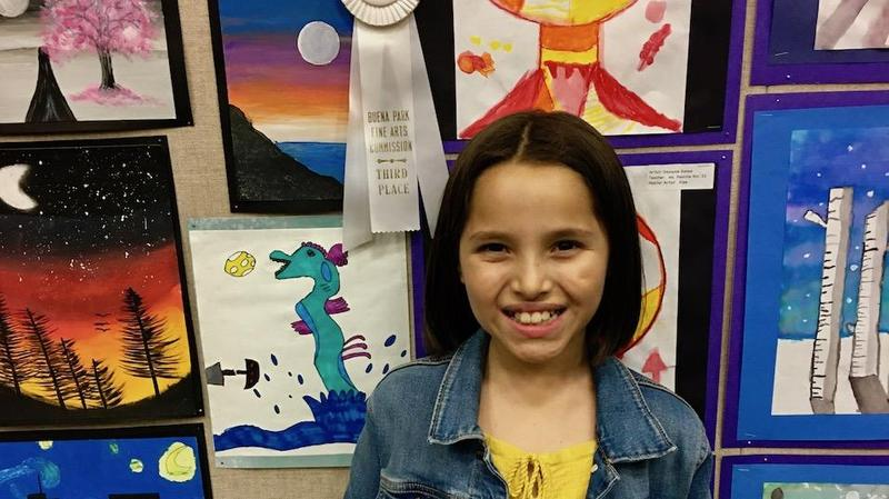 Itzayana Benitez received Third Place in the Third Grade Division