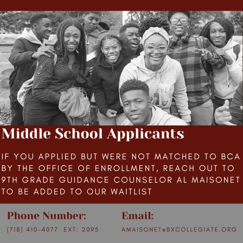 Middle School Applicants Featured Photo