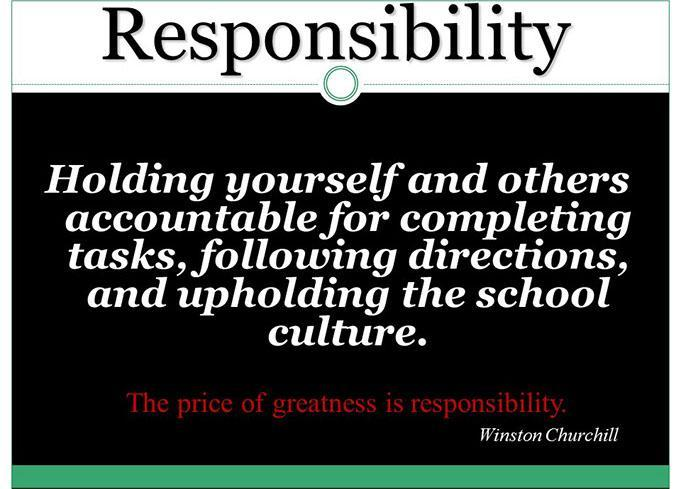 Core Value- Responsibility