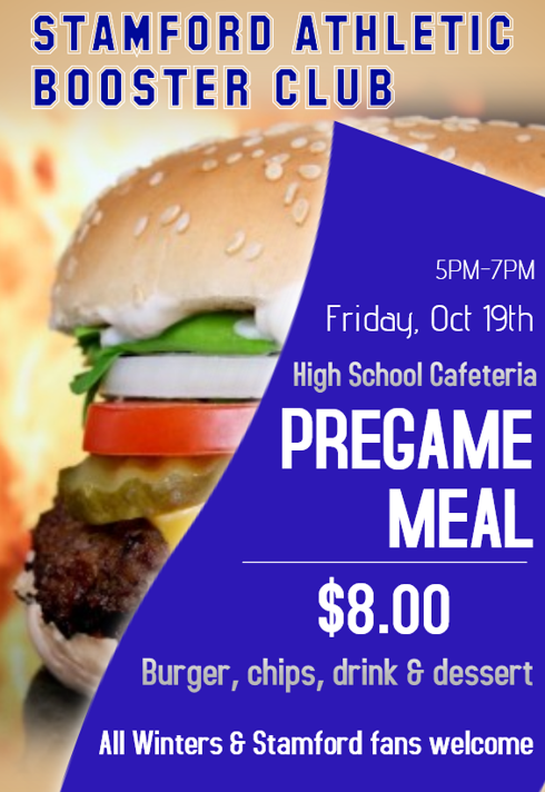 Pregame meal sponsored by Stamford Athletic Boosters Featured Photo