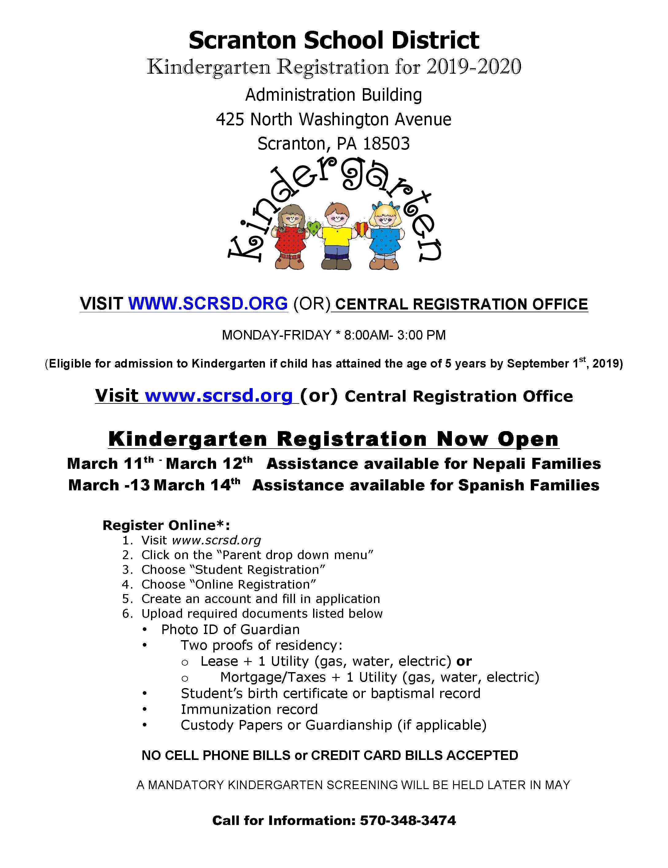 Registration Scranton School District