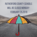 Schools will reamin closed Monday Feb. 25
