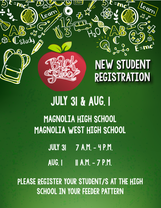 new student registration dates and times