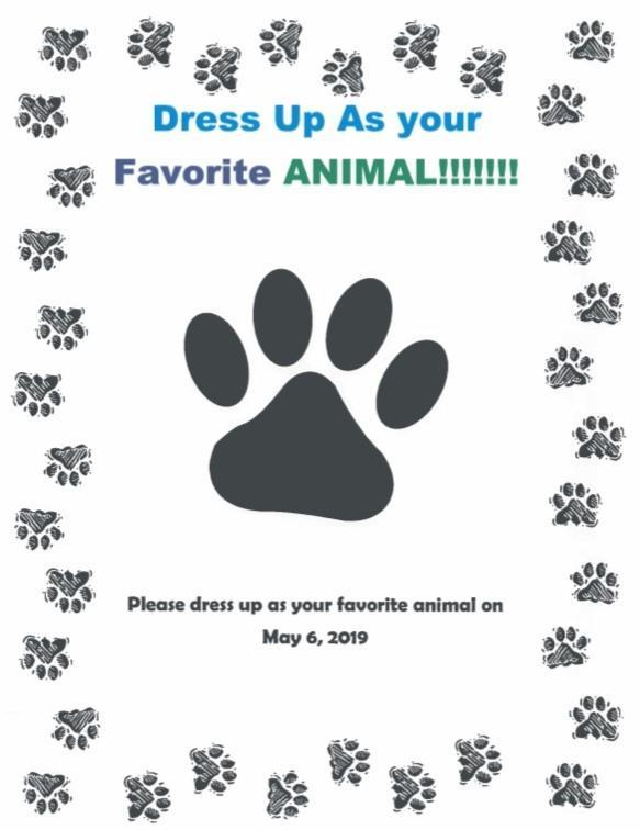 Dress up day flyer