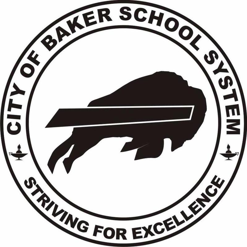 a graphic image: the newest buffalo logo that represents the City of Baker School System