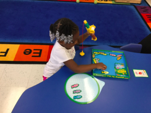 Student practices with an activiity