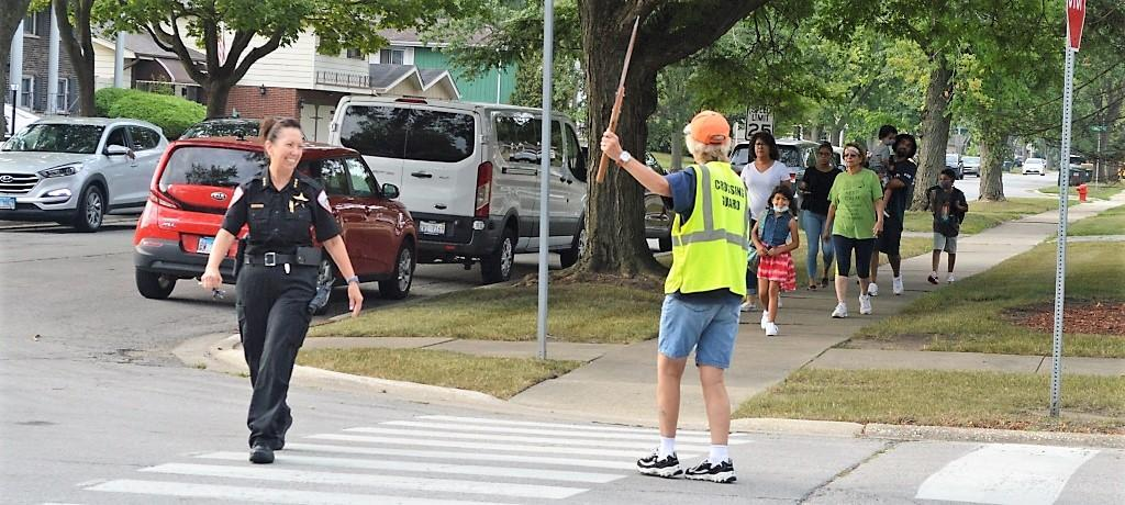 Churchill School crossing guard